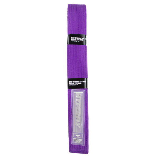 hyperfly bjj belt procomp purple 1