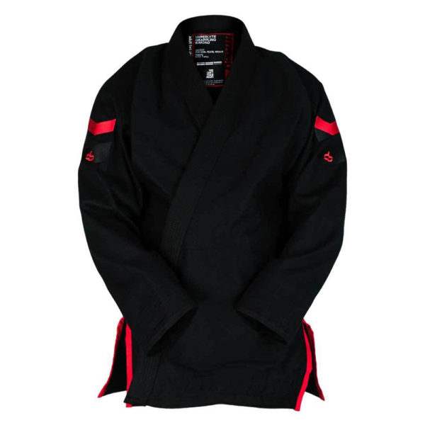 hyperfly bjj gi hyperlyte 2 0 black red 1