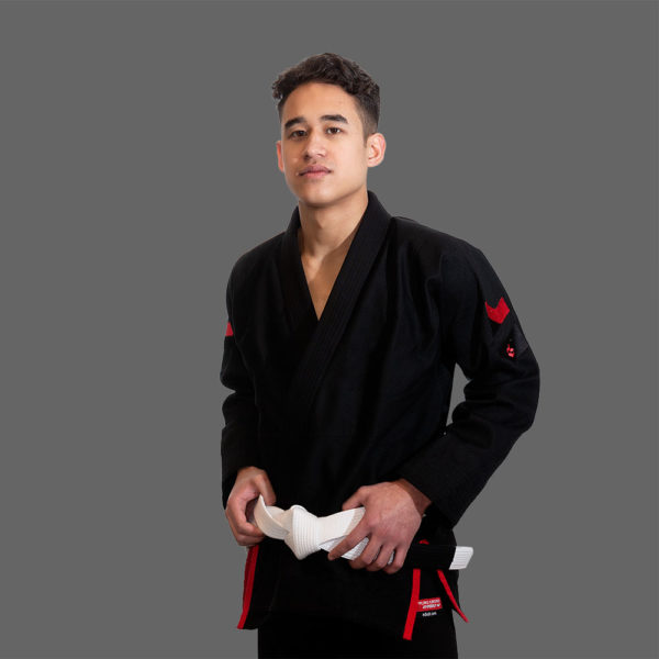 hyperfly bjj gi hyperlyte 2 0 black red 2a