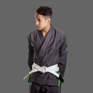 hyperfly bjj gi hyperlyte 2 0 grey matrix green 1 1