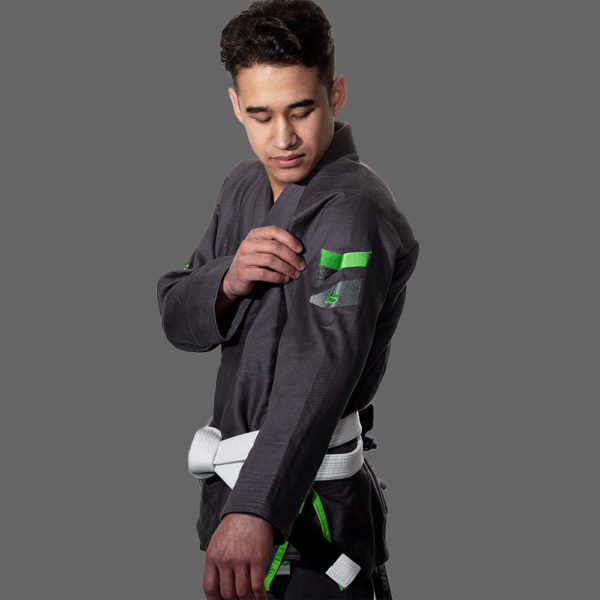 hyperfly bjj gi hyperlyte 2 0 grey matrix green 2 1