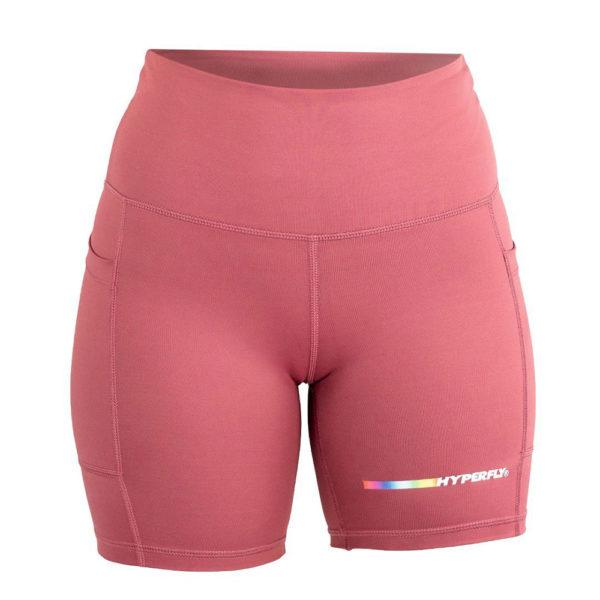 hyperfly flygirl athletic shorts 2.0 dusty rose 1
