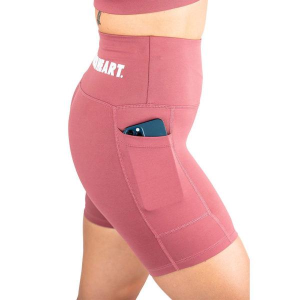 hyperfly flygirl athletic shorts 2.0 dusty rose 4