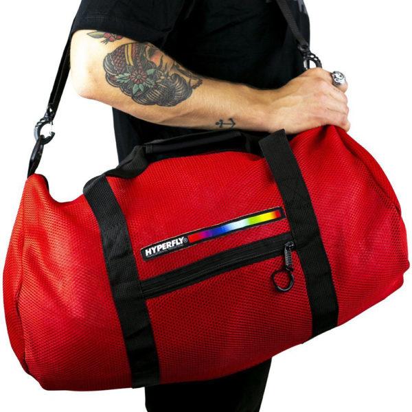 hyperfly foam mesh gear bag red 2