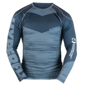hyperfly rashguard procomp supreme long sleeve grey 1