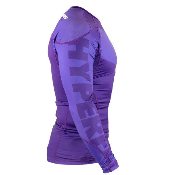 hyperfly rashguard procomp supreme long sleeve purple 2