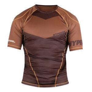hyperfly rashguard procomp supreme short sleeve brown 1