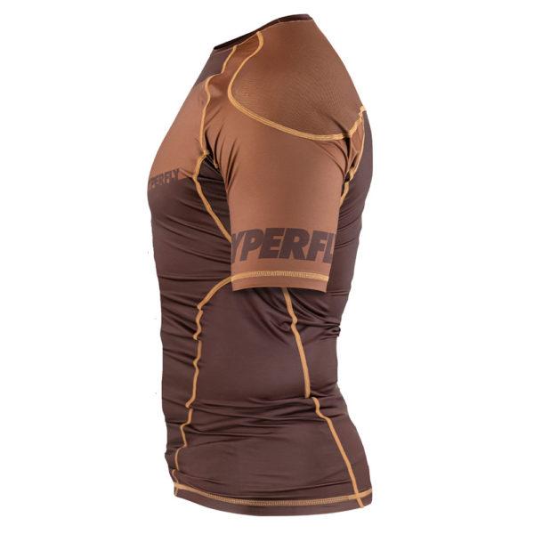 hyperfly rashguard procomp supreme short sleeve brown 3