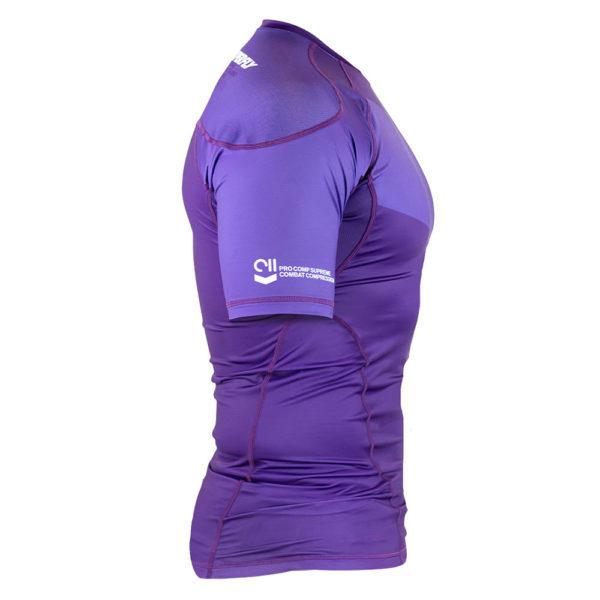 hyperfly rashguard procomp supreme short sleeve purple 2