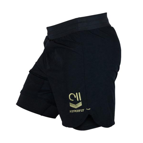 hyperfly shorts icon black gold 6