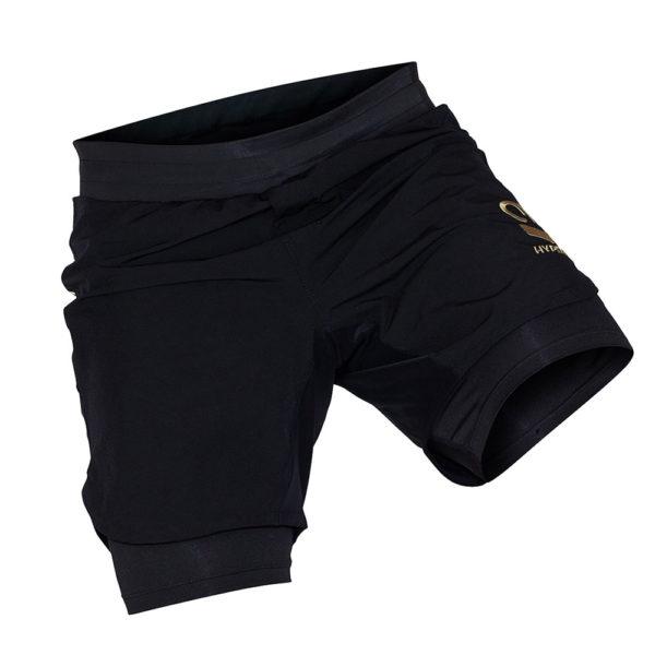 hyperfly shorts icon black gold 8