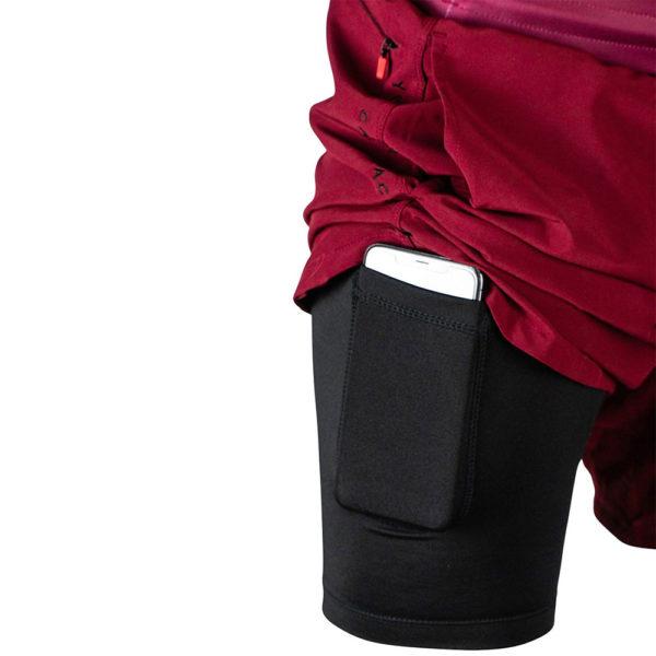 hyperfly training shorts icon burgundy 2