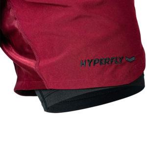 hyperfly training shorts icon burgundy 4