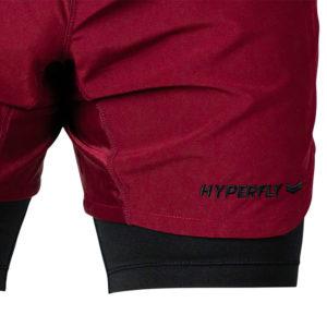 hyperfly training shorts icon burgundy 7