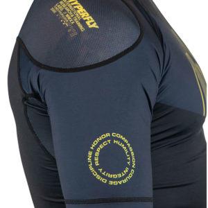 hyperfly x one fc rashguard short sleeve black 3