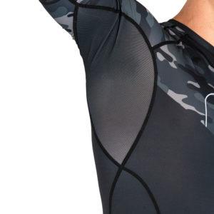 hyperfly x one fc rashguard short sleeve black camo 3