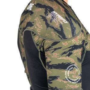 hyperfly x one fc rashguard short sleeve tiger camo 4