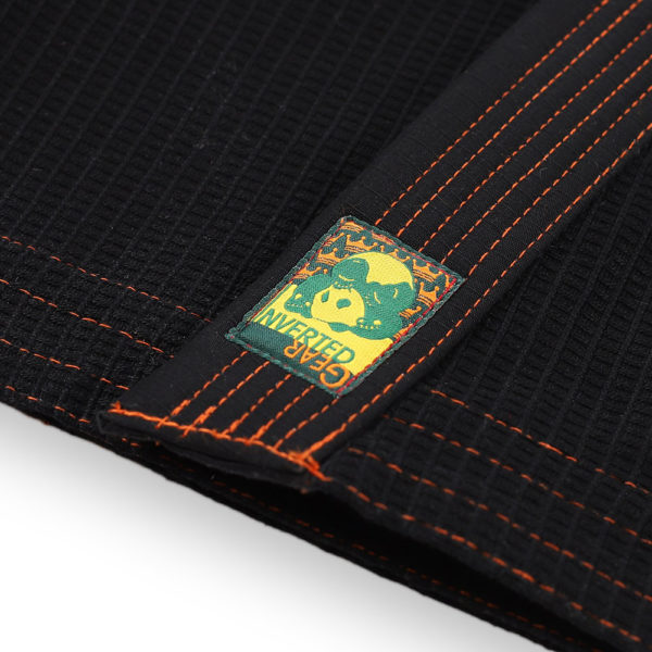 inverted gear bjj gi gold weave black 6