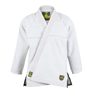 inverted gear bjj gi gold weave white 1