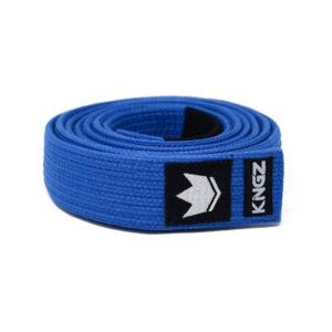 kingz bjj balte premium gi material blue