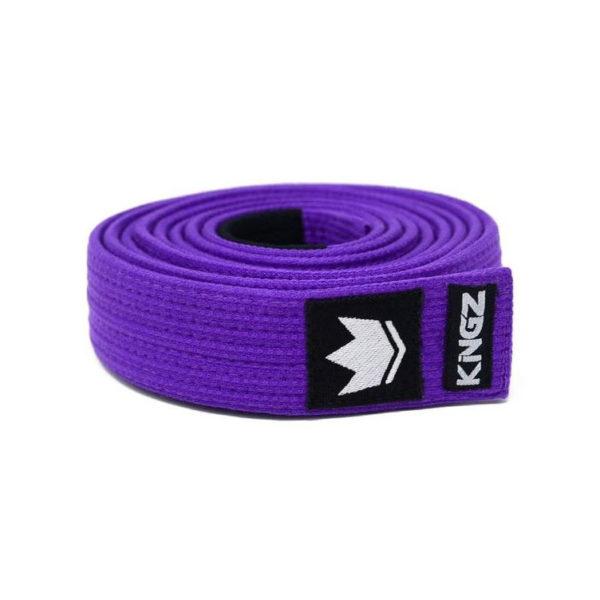 kingz bjj balte premium gi material purple