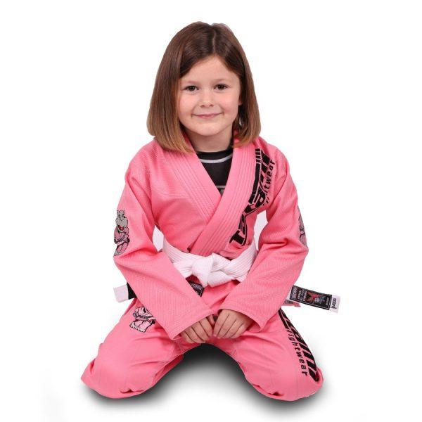 Tatami BJJ Gi Kids Animal V2 pink incl. white belt
