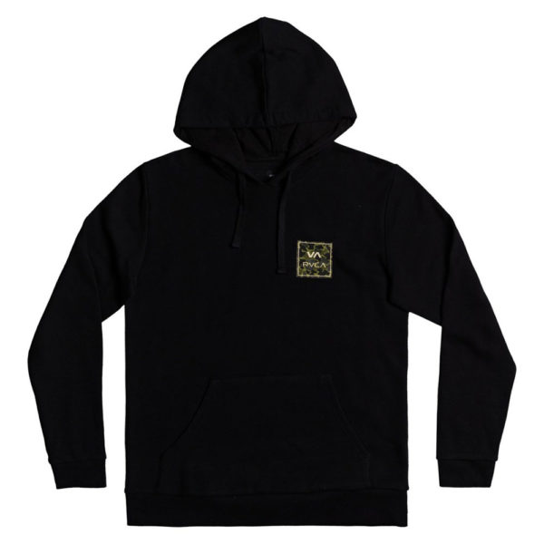 rvca hoodie all the way black camo 1