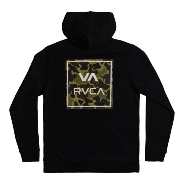 rvca hoodie all the way black camo 2