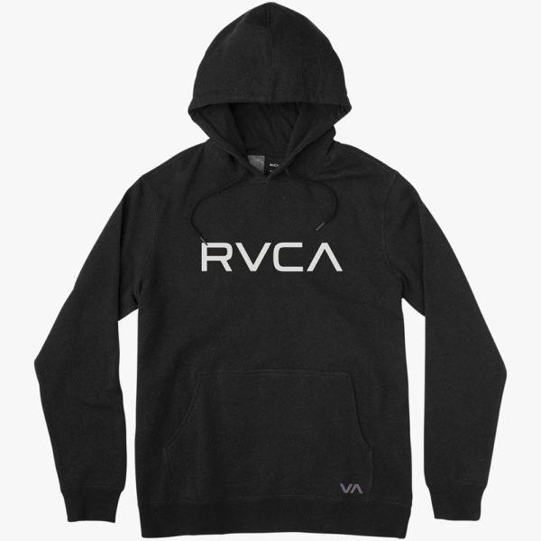 rvca hoodie big logo black 1
