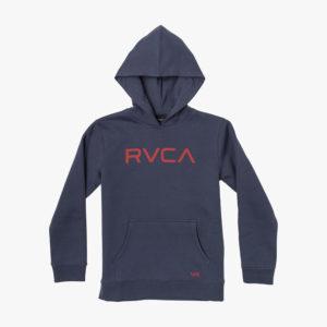 rvca hoodie big logo moody blue