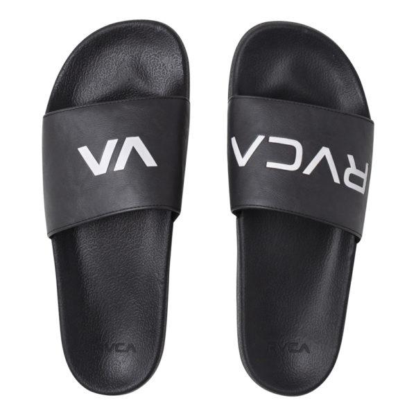 rvca slides black white