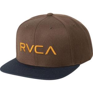 rvca snapback twill iii brown