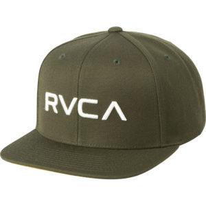 rvca snapback twill iii olive green