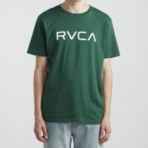 rvca t shirt big logo green 1