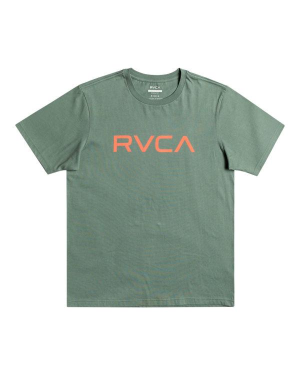 rvca t shirt big logo green