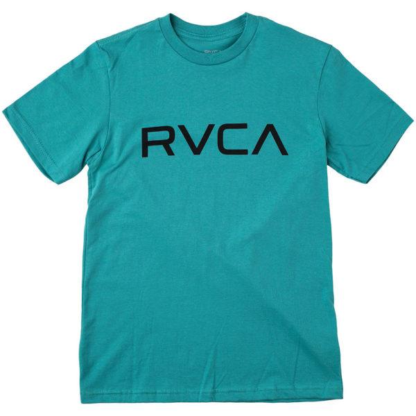 rvca t shirt big logo turquoise