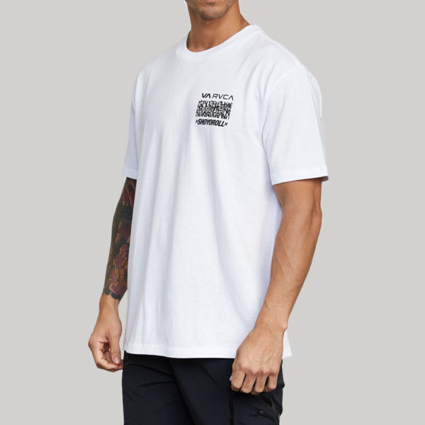 rvca x shoyoroll t shirt defer vaxsho white 2