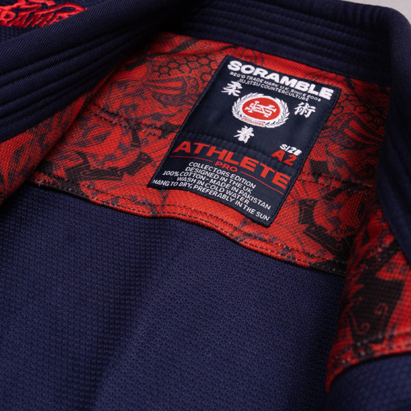scramble bjj gi athlete pro navy 7