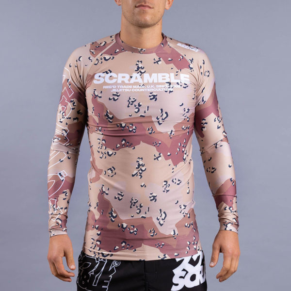 scramble rashguard base choc chip 2
