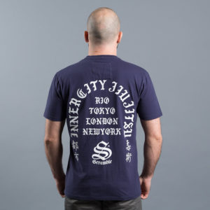 scramble t shirt inner city jiu jitsu navy 2