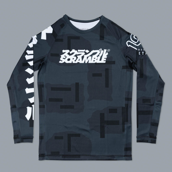 scramble x 100 athletic rashguard night camo 1