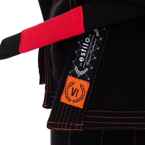 tatami bjj gi estilo 6 0 black orange 6
