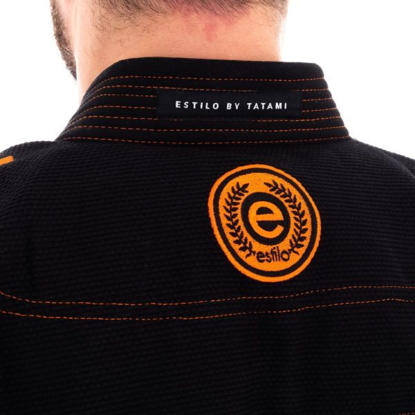 tatami bjj gi estilo 6 0 black orange 9