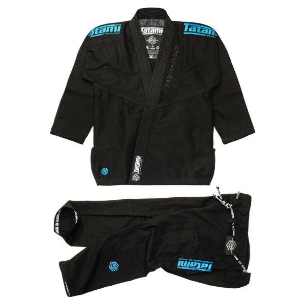 tatami bjj gi estilo black label black blue 1