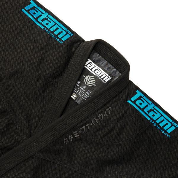 tatami bjj gi estilo black label black blue 4