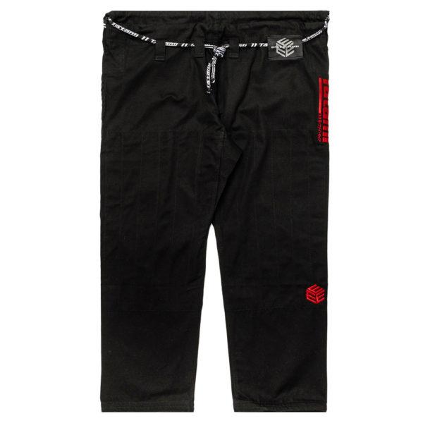 tatami bjj gi estilo black label black red 14