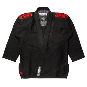 tatami bjj gi estilo black label black red 2
