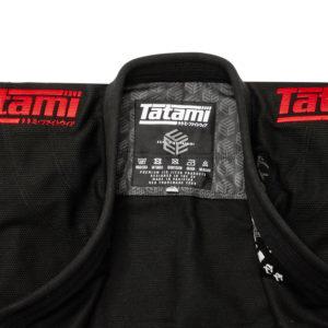 tatami bjj gi estilo black label black red 9