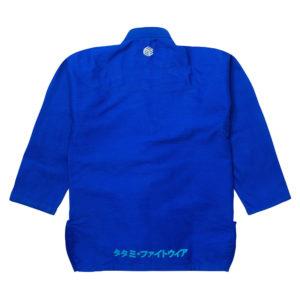 tatami bjj gi estilo black label blue grey 3