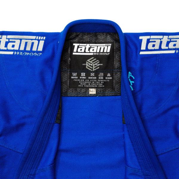 tatami bjj gi estilo black label blue grey 4